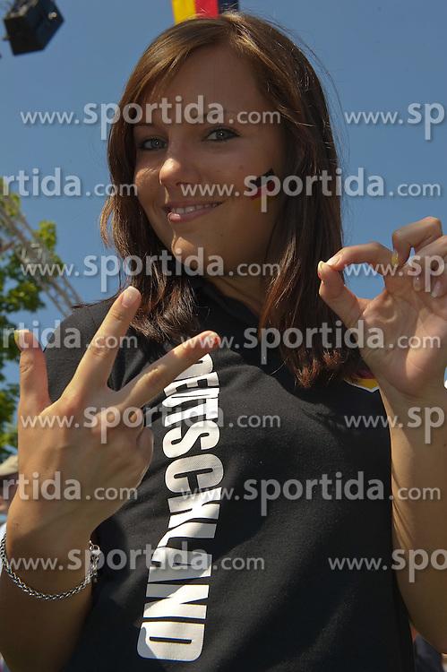 27.06.2010, Ritzheimer Platz, Lohne , GER, FIFA WM 2010, Germany (GER ) vs England (GB)., im  Bild  Fan Meile Lohne Ann Christin  EXPA Pictures © 2010, PhotoCredit: EXPA/ nph/  Kokenge / SPORTIDA PHOTO AGENCY
