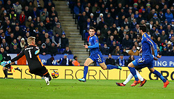 Kasper Schmeichel of Leicester City saves a shot from Moussa Sissoko of Tottenham Hotspur - Mandatory by-line: Robbie Stephenson/JMP - 28/11/2017 - FOOTBALL - King Power Stadium - Leicester, England - Leicester City v Tottenham Hotspur - Premier League