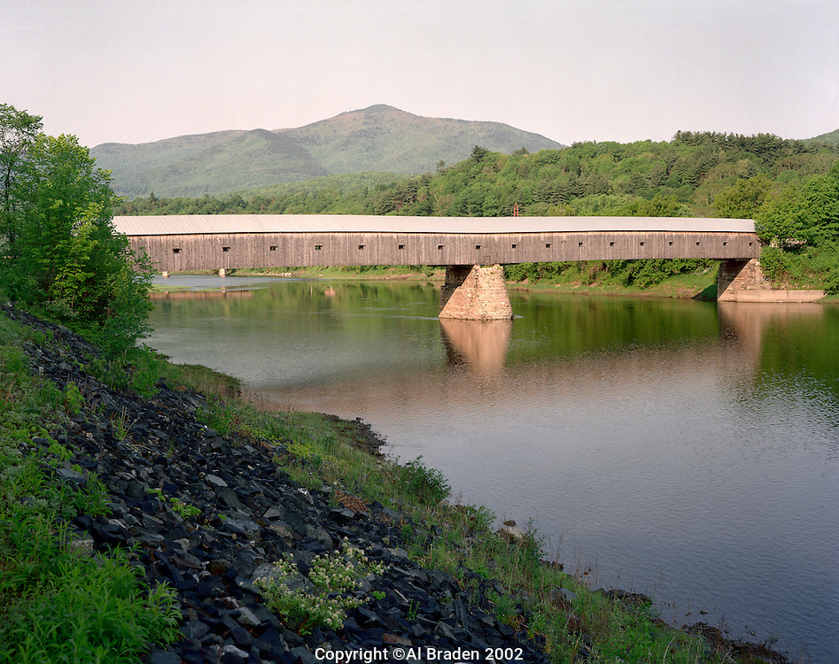 Windsor-Cornish Bridge, built in 1866, is the longest in the U.S. and spans 449.5 feet.