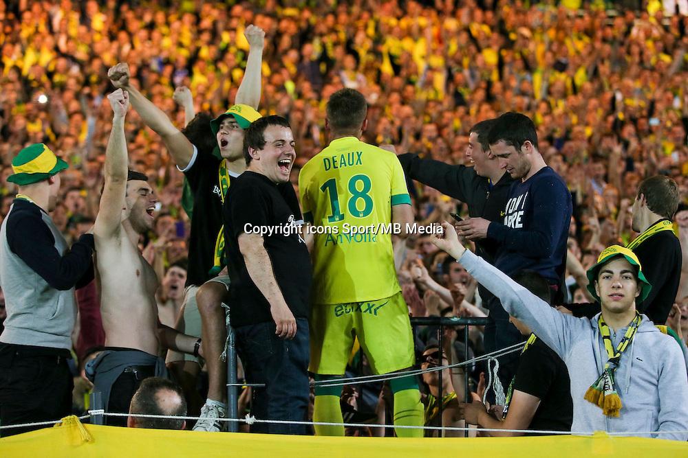 Supporters Nantes / Lucas DEAUX - 16.05.2015 - Nantes / Lorient - 37eme journee de Ligue 1<br />Photo : Vincent Michel / Icon Sport