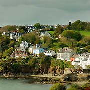 View of seaside houses at Kinsale, Ireland