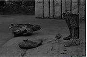 Destruction Of Wolfe Tone Statue..1971..08.02.1971..02.08.1971..8th February 1971..This morning the statue of Wolfe Tone on St Stephens Green was destroyed by explosion. The UDA (Ulster Defence Assoc) were alleged to have carried out the attack..The statue by sculptor Edward Delaney was unveiled by President Eamon DeValera on the 18 Nov 1967. Wolfe Tone ( 1763 -1798) was a leader of the 1798 Rebellion. Captured and sentenced to death by English Forces he died in prison from self inflicted wounds before the execution could be carried out..Image of the shattered remains of the Wolfe Tone statue.