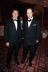 Left to right, MATTHEW FREUD and MATTHEW VAUGHN at a dinner hosted by HRH Prince Robert of Luxembourg in celebration of the 75th anniversary of the acquisition of Chateau Haut-Brion by his great-grandfather Clarence Dillon held at Lancaster House, London on 10th June 2010.