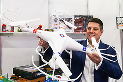 Drones, despite recent issues with airports, are still popular at the Toy Fair at Kensington Olympia in London, the UK's largest dedicated game and hobby exhibition featuring the hottest and most anticipated products for the year ahead. London, January 22 2019.