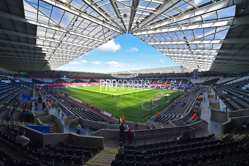 General view inside the Liberty Stadium before the EFL Sky Bet Championship match between Swansea City and Queens Park Rangers at the Liberty Stadium, Swansea, Wales on 29 September 2018.