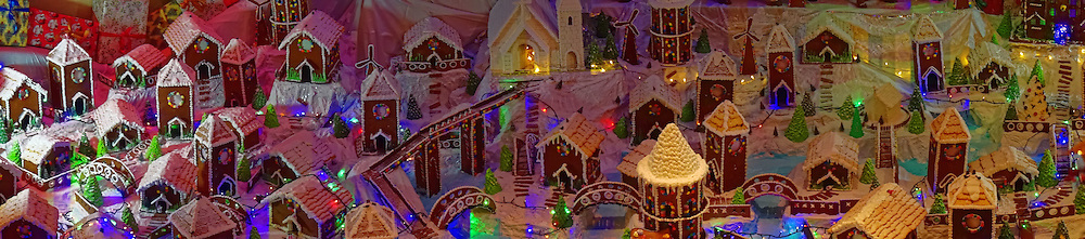 Christmas village made from gingerbread.