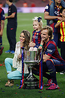 Barcelona´s Rakitic celebrates after winning the 2014-15 Copa del Rey final match against Athletic de Bilbao at Camp Nou stadium in Barcelona, Spain. May 30, 2015. (ALTERPHOTOS/Victor Blanco)