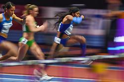 March 2, 2018 - Birmingham, Gangwon, United Kingdom - Quanesha Burks ofUnited States at 60m Hurdles Pentathlon at World indoor Athletics Championship 2018, Birmingham, Englandon March 2, 2018. (Credit Image: © Ulrik Pedersen/NurPhoto via ZUMA Press)