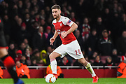 Arsenal Defender Shkodran Mustafi (20) during the Europa League round of 16, leg 2 of 2 match between Arsenal and Rennes at the Emirates Stadium, London, England on 14 March 2019.