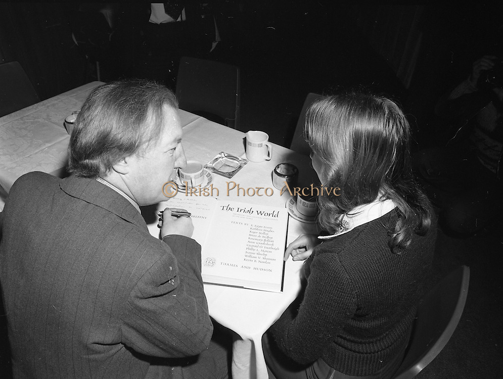 06/01/1978.01/06/1978.6th January 1978.The Aer Lingus Young Scientist of the Year Exhibition at the RDS, Dublin. ..Mary O'Hara, of St. Louis High School, Rathmines, Dublin getting a book signed by the Minister for Health and Social Welfare, Charles Haughey, T.D.