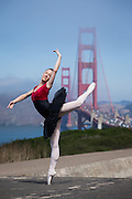 Dance Connection Palo Alto Ballet Company dancers pose for a portrait at Battery Godfrey in San Francisco, California, on September 17, 2016. (Stan Olszewski/SOSKIphoto)
