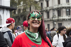 May 5, 2018 - City Of Buenos Aires, City of Buenos Aires, Argentina - INT. 2018 May 5. City of Buenos Aires, Argentina.- Thousands of people march on 2018 may 5th from May Square in the city of Buenos Aires, Argentina, to the National Congress in the Global Marijuana Day claiming por the legalization of the herb. (Credit Image: © Julieta Ferrario via ZUMA Wire)