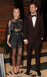 Diane Kruger and Joshua Jackson arrive at the 2014 Vanity Fair Oscar Party in West Hollywood, California, USA,  Sunday, 2nd March 2014. Picture by Hollywood Bubbles / i-Images<br /> UK ONLY