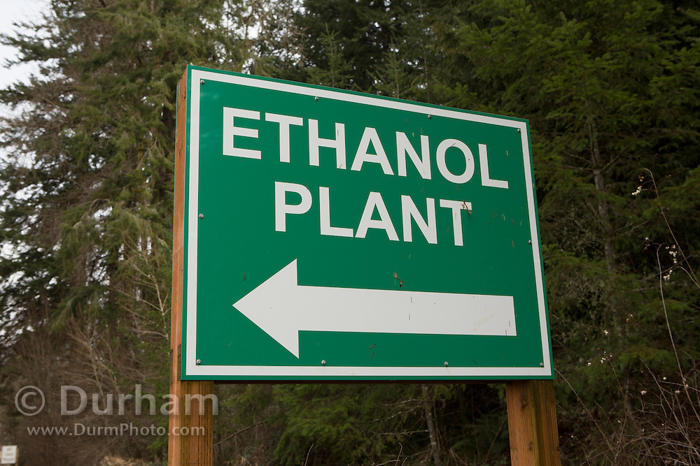 Sign for ethanol plant in western Oregon.