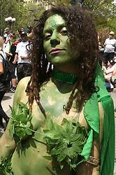 May 5, 2018 - New York City, New York, U.S. - Marijuana activist attends the 47th Annual NYC Cannabis Parade and Rally held at Union Square. (Credit Image: © Nancy Kaszerman via ZUMA Wire)