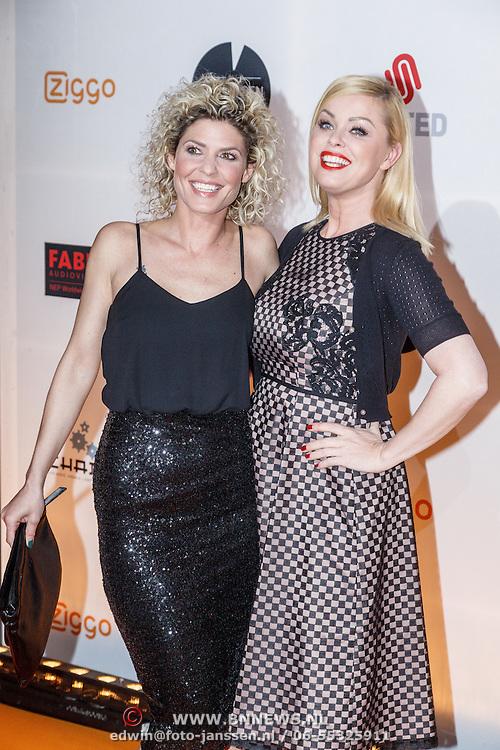 NLD/Amsterdam/20160307 - TV Beelden 2016, Bridget Maasland en vriendin