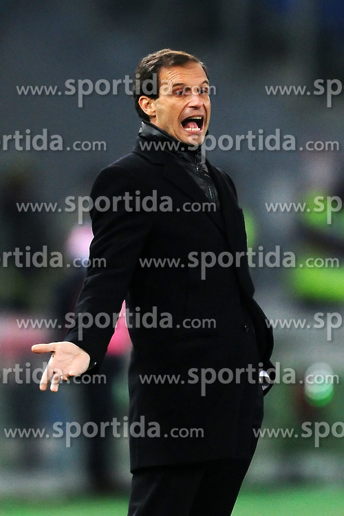 01.02.2012, Olympiastadion, Rom, ITA, Serie A, Lazio Rom vs AC Milan, 21. Spieltag, im Bild Massimiliano Allegri Trainer Milan, // during the football match of Italian 'Serie A' league, 21th round, between Lazio Rom and AC Milan at Olympic Stadium, Rome, Italy on 2012/02/01. EXPA Pictures © 2012, PhotoCredit: EXPA/ Insidefoto/ Andrea Staccioli..***** ATTENTION - for AUT, SLO, CRO, SRB, SUI and SWE only *****