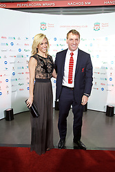 LIVERPOOL, ENGLAND - Tuesday, May 19, 2015: Liverpool's manager Brendan Rodgers and partner Charlotte Hind arrive on the red carpet for the Liverpool FC Players' Awards Dinner 2015 at the Liverpool Arena. (Pic by David Rawcliffe/Propaganda)