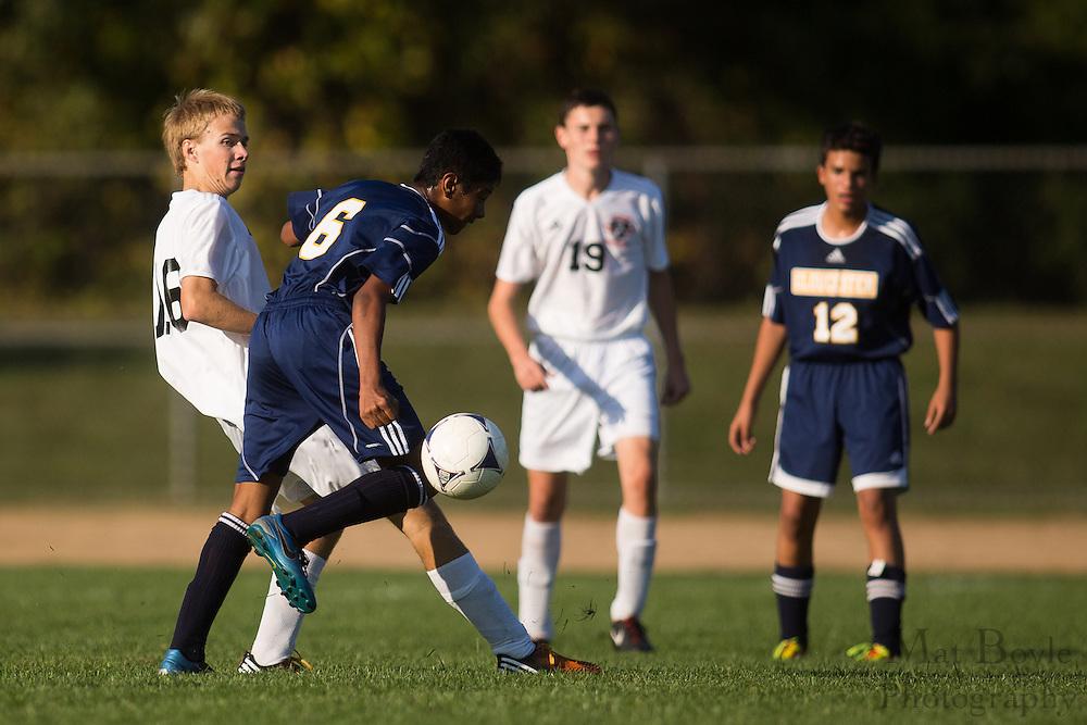 Pitman High School Boys Soccer vs. Gloucester City High School at Alcyon Park in Pitman, NJ on Wednesday October 10, 2012. (photo / Mat Boyle)