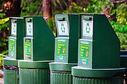 Recycling cans, Yosemite National Park, California USA
