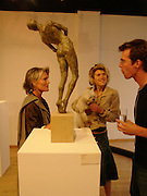 Bridget Barnaby , Camilla Barnaby and Harry Parkes. Bronze Sculpture by Georgiana Anstruther-Gough-Calthorpe. Air Gallery. Dover St. London. 27 September 2005. ONE TIME USE ONLY - DO NOT ARCHIVE © Copyright Photograph by Dafydd Jones 66 Stockwell Park Rd. London SW9 0DA Tel 020 7733 0108 www.dafjones.com