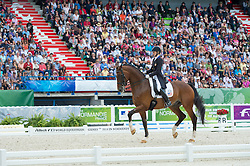 Laura Graves, (USA), Verdades - Freestyle Grand Prix Dressage - Alltech FEI World Equestrian Games™ 2014 - Normandy, France.<br /> © Hippo Foto Team - Jon Stroud<br /> 25/06/14