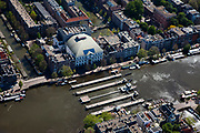 Nederland, Amsterdam, Amstel, 12-05-2009; Theater Carre en de Amstelsluizen<br /> <br /> luchtfoto - aerial photo<br /> copyright foto/photo Siebe Swart