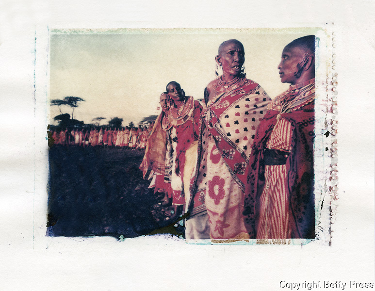 Maasai women gather for Blessing Ceremony every 7 to 10 years.  Southern Kenya<br />