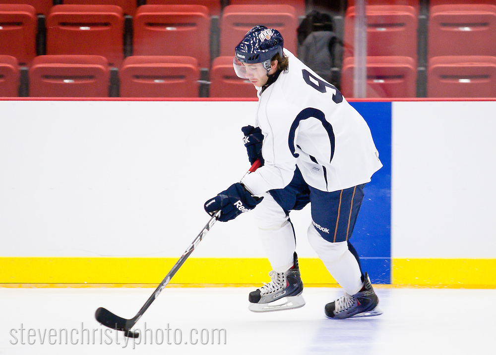 September 28, 2010: The Oklahoma City Barons take the ice for day 2 of training camp in the Cox Convention Center in preparation of the team's inaugural season.