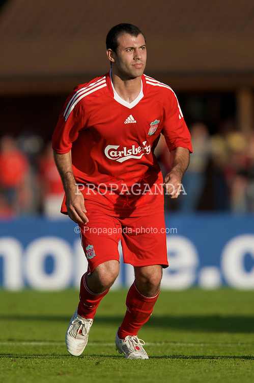 FRIBOURG, SWITZERLAND - Saturday, July 19, 2008: Liverpool's Javier Mascherano during a pre-season friendly match against Wisla Krakow at Stade St-Leonard. (Photo by David Rawcliffe/Propaganda)