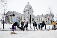 The Madison Winter Festival was held on the Capitol Square Saturday February 20, 2010. Included in the event was the Super Tour Freestyle Criterium cross-country ski race.