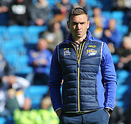 Kevin Sinfield (Director of Rugby) of Leeds Rhinos during the Super 8s The Qualifiers match at Mbi Shay Stadium, Halifax<br /> Picture by Stephen Gaunt/Focus Images Ltd +447904 833202<br /> 23/09/2018