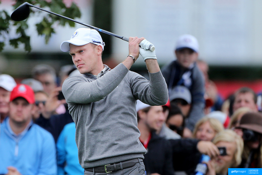 Ryder Cup 2016. Danny Willett of Europe during practice at the Hazeltine National Golf Club on September 28, 2016 in Chaska, Minnesota.  (Photo by Tim Clayton/Corbis via Getty Images)
