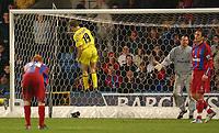Fotball<br /> England 2004/2005<br /> Foto: SBI/Digitalsport<br /> NORWAY ONLY<br /> <br /> Barclays Premiership<br /> Crystal Palace v Charlton Athletic<br /> 5/12/2004<br /> <br /> Charlton's Dennis Rommedahl celebrates his goal