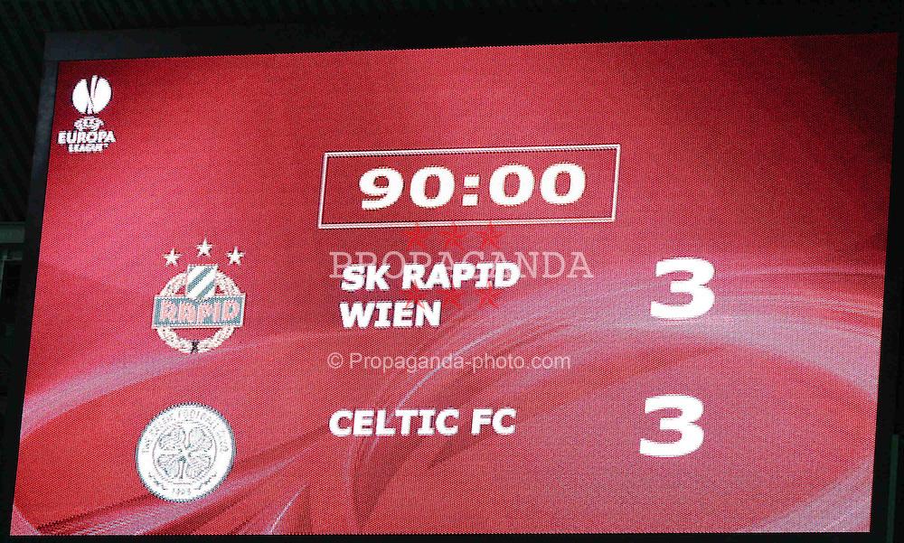 17.12.2009, Ernst Happel Stadion, Wien, AUT, UEFA EL, SK Rapid Wien vs Celtic FC, im Bild Anzeigetafel mit dem Endergebnis,  EXPA Pictures © 2009, Photographer EXPA / T. Haumer