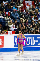 KELOWNA, BC - OCTOBER 25:  Canadian figure skater Gabrielle Daleman competes at Skate Canada International in the ladies short program at Prospera Place on October 25, 2019 in Kelowna, Canada. (Photo by Marissa Baecker/Shoot the Breeze)