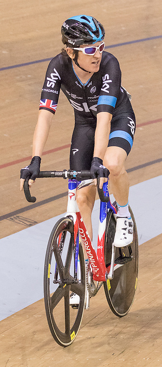 Geraint Thomas (Sky)  during the Elite Championship - Points Race - Men. Revolution 55 Track Cycling Glasgow, 28th November 2015