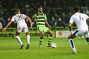 Forest Green Rovers Ethan Pinnock(16) on the ball during the Vanarama National League match between Forest Green Rovers and Tranmere Rovers at the New Lawn, Forest Green, United Kingdom on 22 November 2016. Photo by Shane Healey.