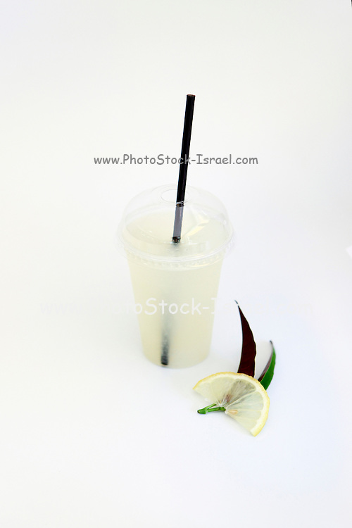 Lemon Juice on white background
