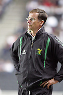 Milton Keynes - Tuesday, August 12th, 2008: Norwich City manager Glenn Roeder during the Carling League Cup First Round match at Stadium MK, Milton keynes. (Pic by Mark Chapman/Focus Images)