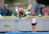 21 Aug 2016: Ciara Kennelly, from Kerry, during the Girls U16 High Jump.  2016 Community Games National Festival 2016.  Athlone Institute of Technology, Athlone, Co. Westmeath. Picture: Caroline Quinn