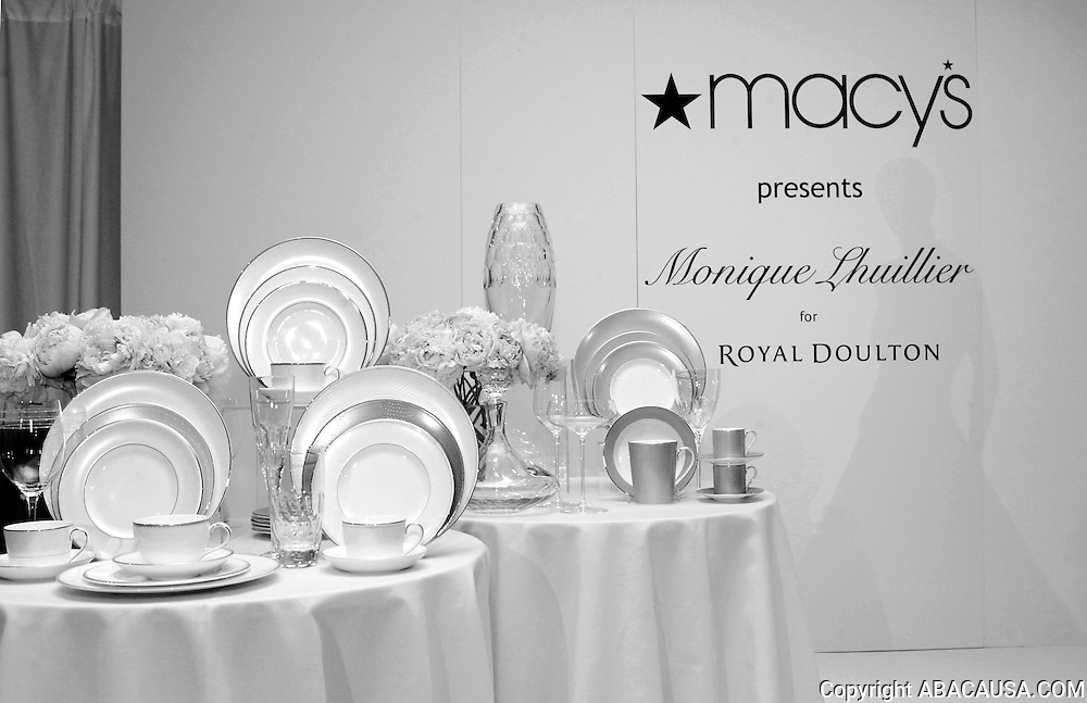 Inside designer Monique Lhuillier's debut of her tabletop collection for Royal Doulton at Macy's Herald Square in New York City, USA on March 25, 2008.