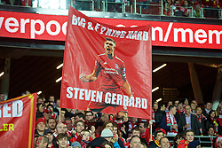 ADELAIDE, AUSTRALIA - Monday, July 20, 2015: Liverpool supporters' banner for Steven Gerrard before a preseason friendly match against Adelaide United at the Adelaide Oval on day eight of the club's preseason tour. (Pic by David Rawcliffe/Propaganda)