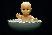 baby doll in dish