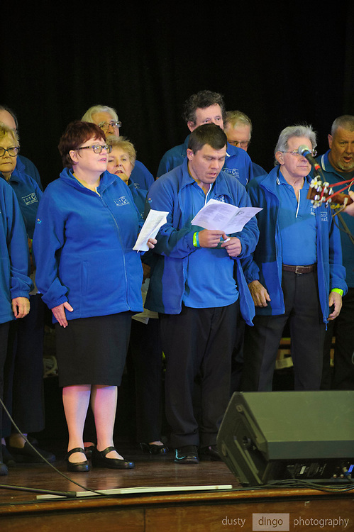 Spirit of the Streets choir performing at the 2018 Guildford Songfest, inside the Guildford Town Hall.