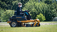 Yard Mowing safely
