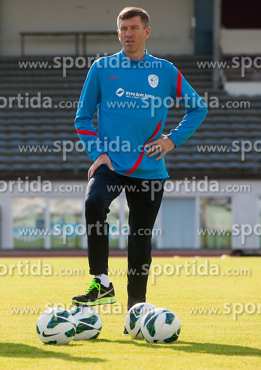 Srecko Katanec, head coach  during practice session of Slovenian National football team at training camp on May 28, 2013 in Sports park Kranj, Slovenia. (Photo By Vid Ponikvar / Sportida)