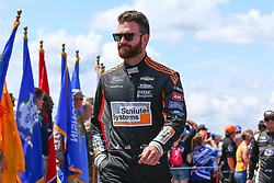 July 29, 2018 - Long Pond, PA, U.S. - LONG POND, PA - JULY 29:  Monster Energy NASCAR Cup Series driver Corey LaJoie Monarch Chevrolet (72) during driver introductions prior to the Monster Energy NASCAR Cup Series - 45th Annual Gander Outdoors 400 on July 29, 2018 at Pocono Raceway in Long Pond, PA. (Photo by Rich Graessle/Icon Sportswire) (Credit Image: © Rich Graessle/Icon SMI via ZUMA Press)