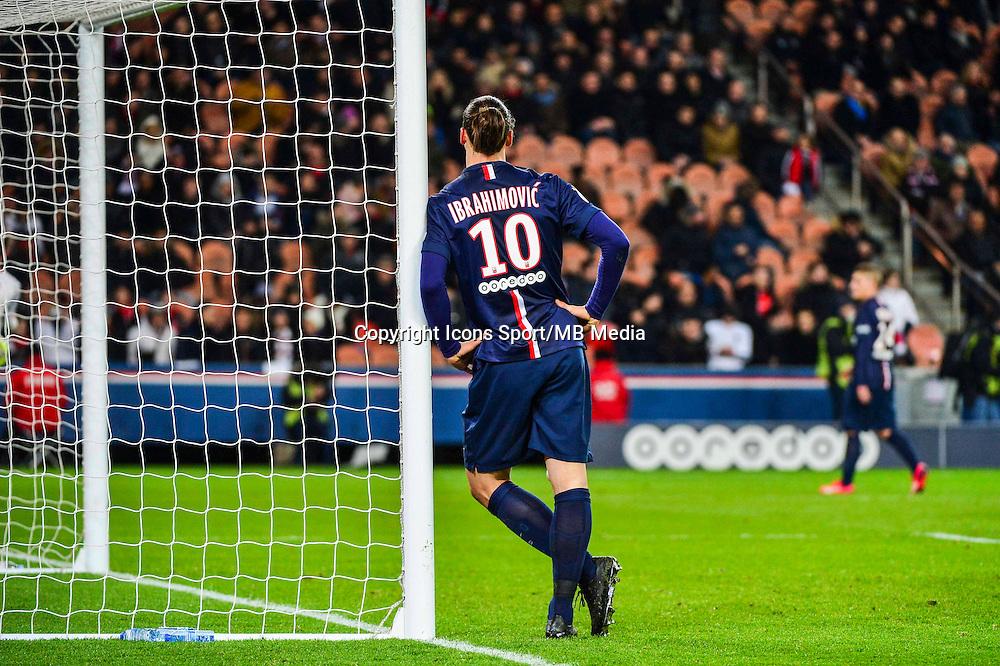 Zlatan IBRAHIMOVIC - 30.01.2015 - PSG / Rennes - 23eme journee de Ligue 1<br /> Photo : Winterpress / Icon Sport
