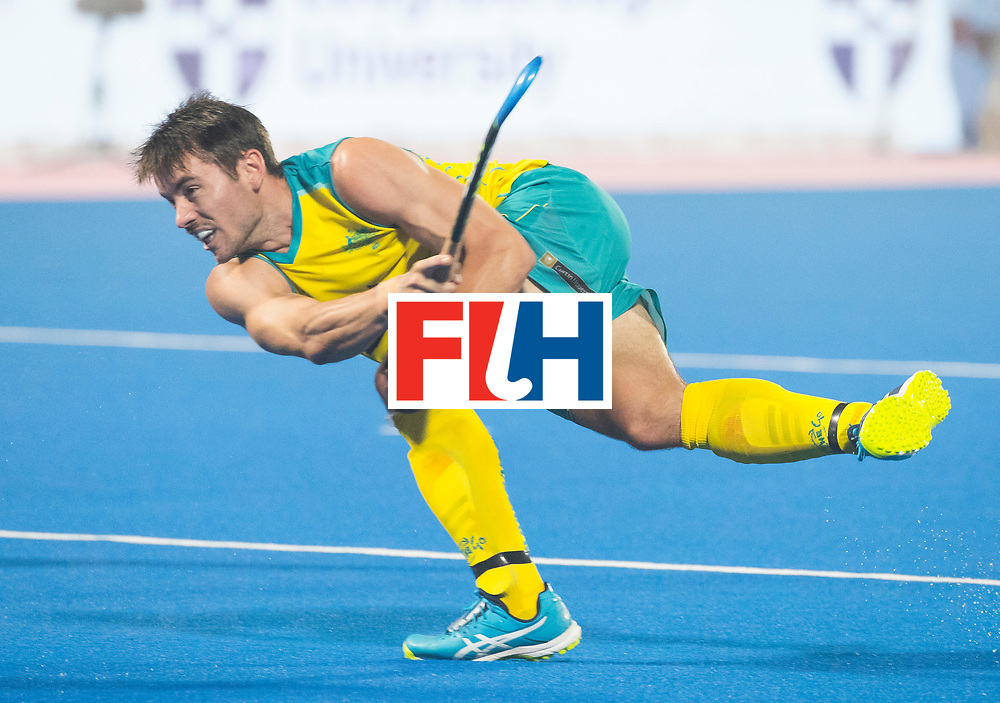 BHUBANESWAR - The Odisha Men's Hockey World League Final . Match ID 02. Australia v India. Jeremy Hayward (Aus) .WORLDSPORTPICS COPYRIGHT  KOEN SUYK